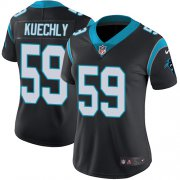 Wholesale Cheap Nike Panthers #59 Luke Kuechly Black Team Color Women's Stitched NFL Vapor Untouchable Limited Jersey