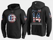Wholesale Cheap Bruins #14 Paul Postma NHL Banner Wave Usa Flag Black Hoodie