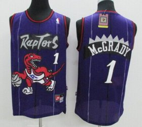 Wholesale Cheap Toronto Raptors #1 Tracy McGrady Hardwood Classic Purple Swingman Jersey