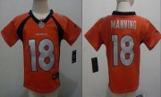 Wholesale Cheap Toddler Nike Broncos #18 Peyton Manning Orange Team Color Stitched NFL Elite Jersey