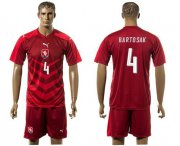Wholesale Cheap Czech #4 Bartosak Red Home Soccer Country Jersey
