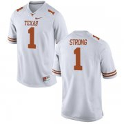 Wholesale Cheap Men's Texas Longhorns 1 Charlie Strong White Nike College Jersey