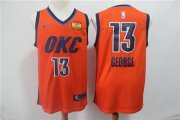 Wholesale Cheap Thunder 13 Paul George Orange 2019 Earned Edition Nike Swingman Jersey