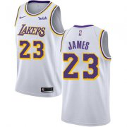 Wholesale Cheap Big Size Nike Los Angeles Lakers #23 LeBron James White NBA Swingman Association Edition Jersey