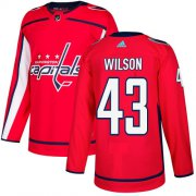 Wholesale Cheap Adidas Capitals #43 Tom Wilson Red Home Authentic Stitched NHL Jersey