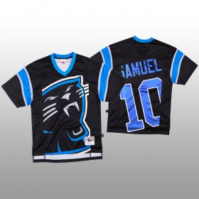 Wholesale Cheap NFL Carolina Panthers #10 Curtis Samuel Black Men\'s Mitchell & Nell Big Face Fashion Limited NFL Jersey