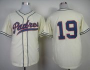 Wholesale Cheap Padres #19 Tony Gwynn Cream 1948 Turn Back The Clock Stitched MLB Jersey