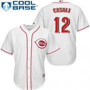Wholesale Cheap Reds #12 Curt Casali White New Cool Base Stitched Youth MLB Jersey