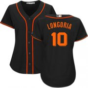 Wholesale Cheap Giants #10 Evan Longoria Black Alternate Women's Stitched MLB Jersey