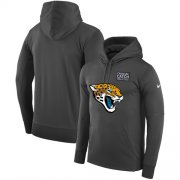 Wholesale Cheap NFL Men's Jacksonville Jaguars Nike Anthracite Crucial Catch Performance Pullover Hoodie