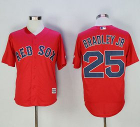 Wholesale Cheap Red Sox #25 Jackie Bradley Jr Red New Cool Base Stitched MLB Jersey
