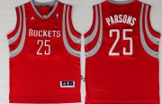 Wholesale Cheap Houston Rockets #25 Chandler Parsons Revolution 30 Swingman Red Jersey