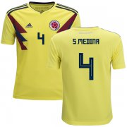 Wholesale Cheap Colombia #4 S.Medina Home Kid Soccer Country Jersey