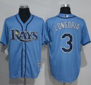 Wholesale Cheap Rays #3 Evan Longoria Light Blue New Cool Base Stitched MLB Jersey