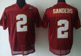 Wholesale Cheap Florida State Seminoles #2 Deion Sanders Red Jersey