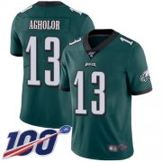 Wholesale Cheap Nike Eagles #13 Nelson Agholor Midnight Green Team Color Men's Stitched NFL 100th Season Vapor Limited Jersey