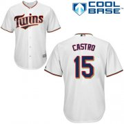 Wholesale Cheap Twins #15 Jason Castro White Cool Base Stitched Youth MLB Jersey