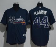 Wholesale Cheap Braves #44 Hank Aaron Blue New Cool Base Stitched MLB Jersey
