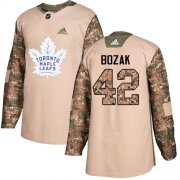 Wholesale Cheap Adidas Maple Leafs #42 Tyler Bozak Camo Authentic 2017 Veterans Day Stitched NHL Jersey