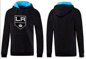 Wholesale Cheap Los Angeles Kings Pullover Hoodie Black & Blue