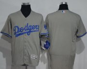 Wholesale Cheap Dodgers Blank Grey Flexbase Authentic Collection Stitched MLB Jersey