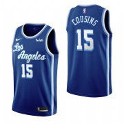 Wholesale Cheap Los Angeles Lakers #15 Demarcus Cousins Blue 2019-20 Classic Edition Stitched NBA Jersey