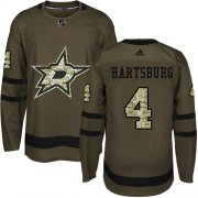 Wholesale Cheap Adidas Stars #4 Craig Hartsburg Green Salute to Service Stitched NHL Jersey