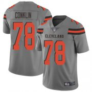 Wholesale Cheap Nike Browns #78 Jack Conklin Gray Youth Stitched NFL Limited Inverted Legend Jersey