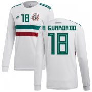 Wholesale Cheap Mexico #18 A.Guardado Away Long Sleeves Soccer Country Jersey