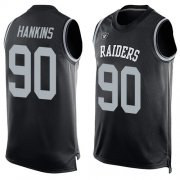 Wholesale Cheap Nike Raiders #90 Johnathan Hankins Black Team Color Men's Stitched NFL Limited Tank Top Jersey