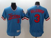 Wholesale Cheap Twins #3 Harmon Killebrew Light Blue Flexbase Authentic Collection Cooperstown Stitched MLB Jersey