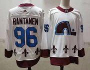 Wholesale Cheap Men's Colorado Avalanche #96 Mikko Rantanen White 2021 Retro Stitched NHL Jersey