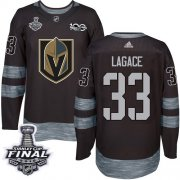 Wholesale Cheap Adidas Golden Knights #33 Maxime Lagace Black 1917-2017 100th Anniversary 2018 Stanley Cup Final Stitched NHL Jersey