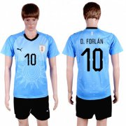 Wholesale Cheap Uruguay #10 D.Forlan Home Soccer Country Jersey