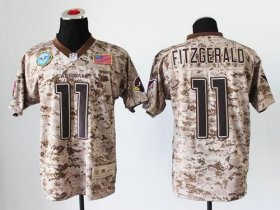Wholesale Cheap Nike Cardinals #11 Larry Fitzgerald Camo Men\'s Stitched NFL New Elite USMC Jersey
