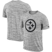 Wholesale Cheap Pittsburgh Steelers Nike Sideline Legend Velocity Travel Performance T-Shirt Heathered Black