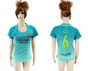 Wholesale Cheap Women's Barcelona #6 Xavi Sec Away Soccer Club Jersey