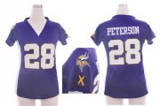 Wholesale Cheap Nike Vikings #28 Adrian Peterson Purple Team Color Draft Him Name & Number Top Women's Stitched NFL Elite Jersey