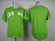 Wholesale Cheap Red Sox Blank Green Cool Base Stitched MLB Jersey