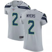 Wholesale Cheap Nike Seahawks #2 Jason Myers Grey Alternate Men's Stitched NFL Vapor Untouchable Elite Jersey