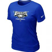 Wholesale Cheap Women's Nike Philadelphia Eagles Critical Victory NFL T-Shirt Blue