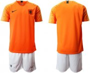 Wholesale Cheap Holland Blank Home Soccer Country Jersey