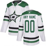 Wholesale Cheap Men's Adidas Stars Personalized Authentic White Road NHL Jersey