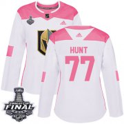 Wholesale Cheap Adidas Golden Knights #77 Brad Hunt White/Pink Authentic Fashion 2018 Stanley Cup Final Women's Stitched NHL Jersey