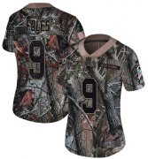 Wholesale Cheap Nike Eagles #9 Nick Foles Camo Women's Stitched NFL Limited Rush Realtree Jersey