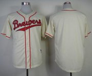 Wholesale Cheap Brewers Blank Cream 1948 Turn Back The Clock Stitched MLB Jersey