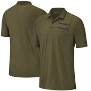 Wholesale Cheap Los Angeles Chargers Nike Salute to Service Sideline Polo Olive