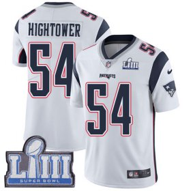 Wholesale Cheap Nike Patriots #54 Dont\'a Hightower White Super Bowl LIII Bound Youth Stitched NFL Vapor Untouchable Limited Jersey
