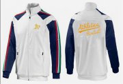 Wholesale Cheap MLB Oakland Athletics Zip Jacket White