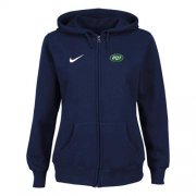 Wholesale Cheap Nike New York Jets Ladies Tailgater Full Zip Hoodie Blue